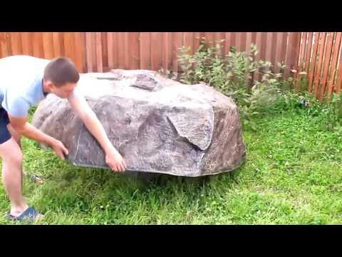 Крышка для септика в виде искусственного камня