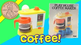 Pretend Kids Kitchen Coffee Pot - It Really Percolates!