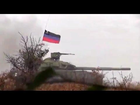 2014/07/26 Ukraine - Separatist's T-64 Tanks firing at Ukrainian army