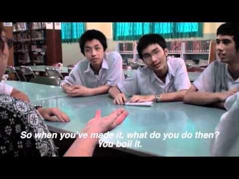 Talking with Palembang Students