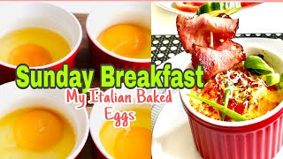 How to prepare ItaĮian Baked Eggs? Easy just keep watching