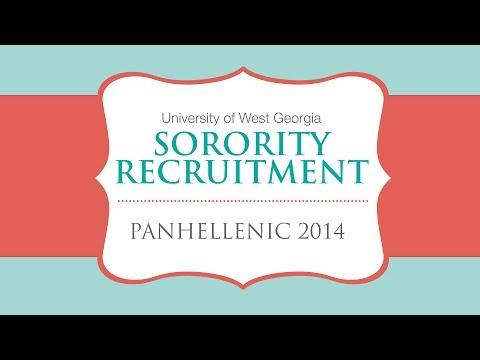 University of West Georgia Panhellenic Recruitment 2014
