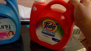 Washing Clothes for Kids Using Detergent and Fabric Softener