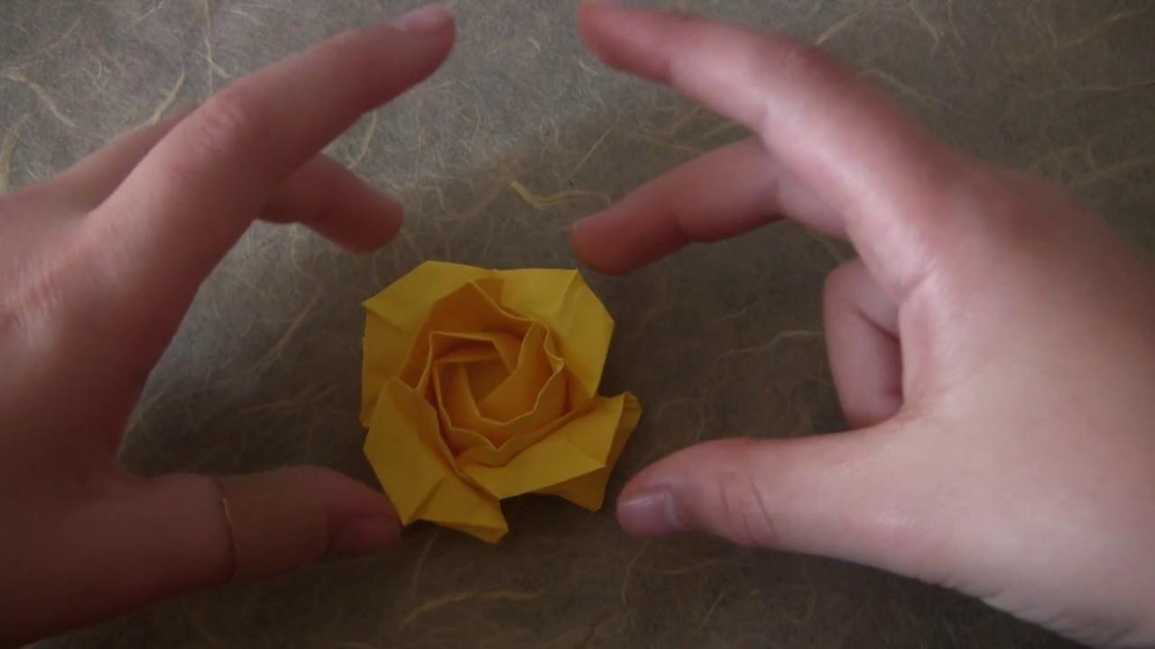 origami rose base tutorial youtube