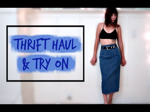 Thrift Haul & Try On: Long Beach