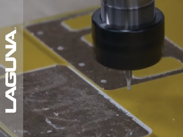 CNC Cutting Multiple Epoxy Fiberglass - Squares and Circles on Router