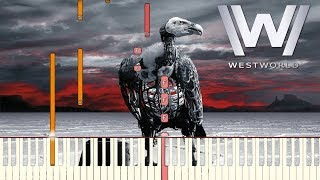Westworld Season 2 - Heart Shaped Box | Piano Tutorial (Synthesia)
