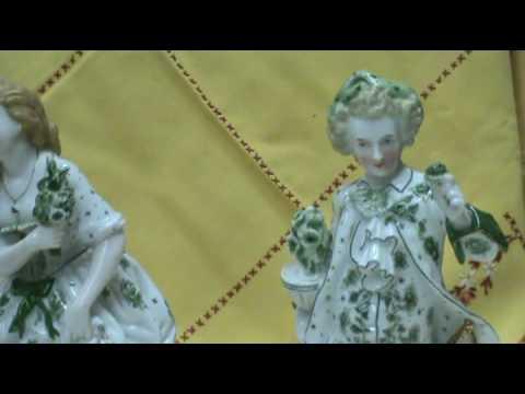 Ferguson Antiques Pair KPM Victorian era porcelain Figurine statues.