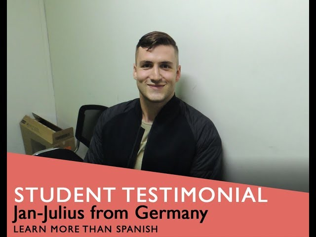 General Spanish Course Student Testimonial by Jan-Julius form Germany