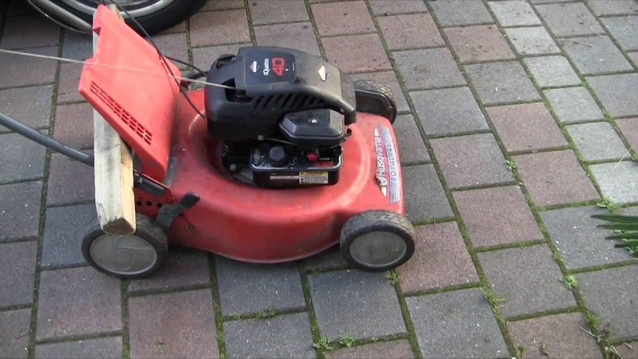 rasenm her mit briggs stratton motor reparieren mower repair youtube. Black Bedroom Furniture Sets. Home Design Ideas