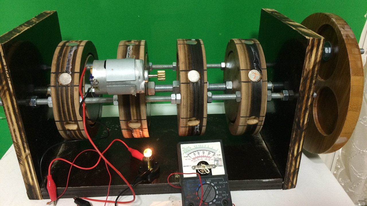 free energy generator , bedava elektrik üretimi,magnet ...