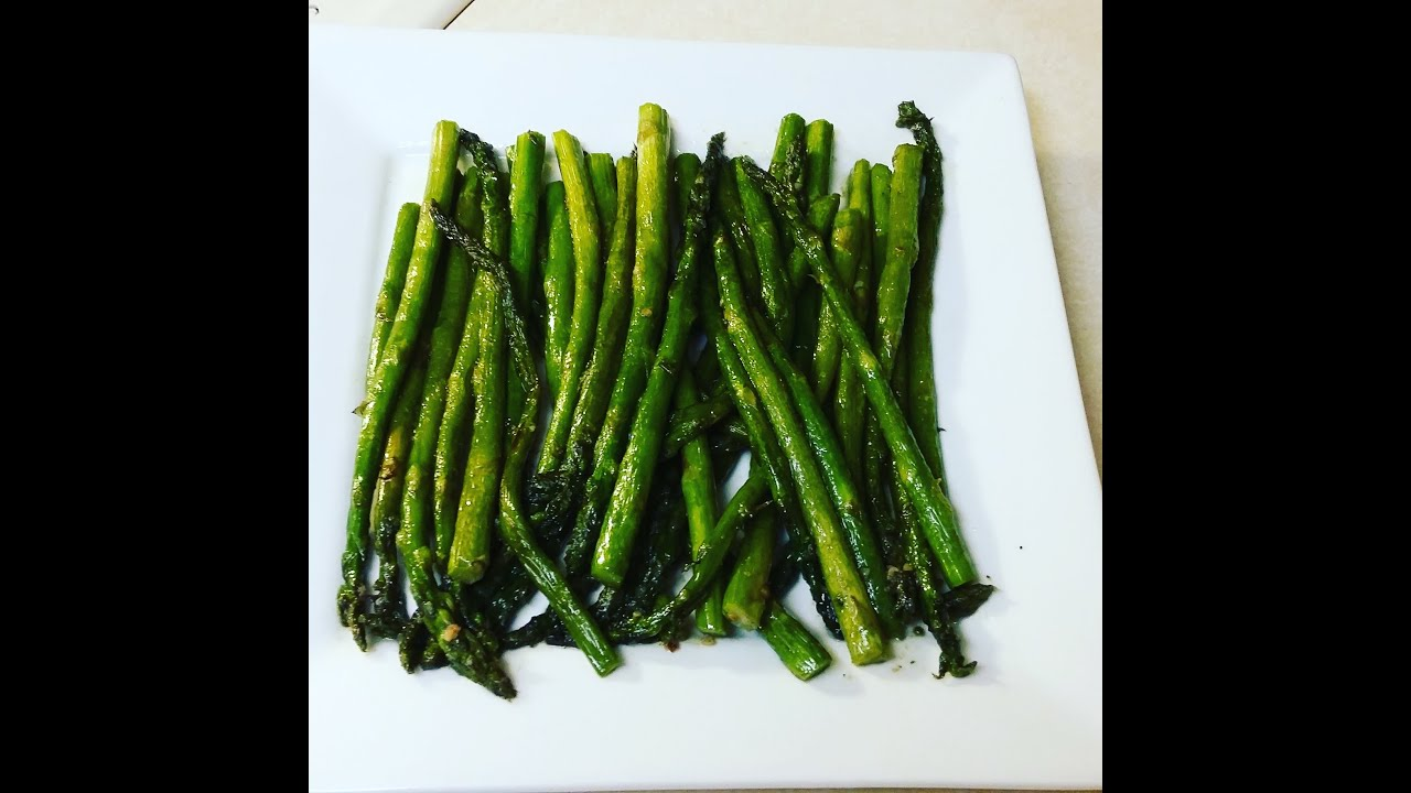 Cast Iron Cooking Pan Fried Asparagus Recipe