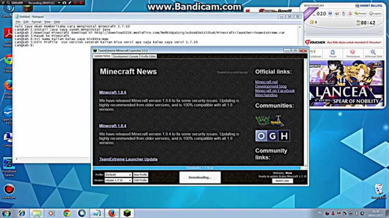 minecraft team extreme 1.7 2 launcher download