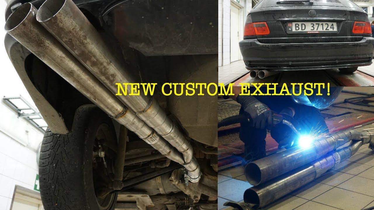 bmw e46 custom exhaust turbo diesel