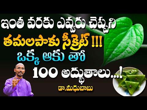 తమలపాకు సీక్రెట్ ఒక్క ఆకు తో 100 అద్భుతాలు..! | Dr. Madhu Babu | Health Trends |