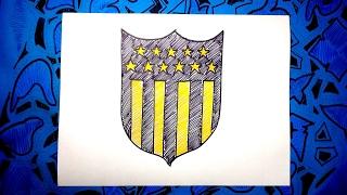 Dibuja el escudo oficial del Peñarol de Uruguay 2017
