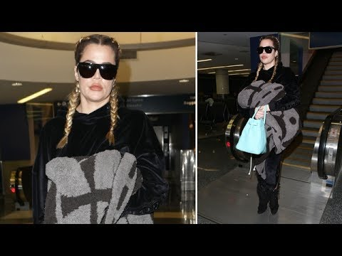 Khloe Kardashian Asked If Caitlyn Jenner Is Banned From The Family As She Arrives At LAX