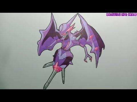 Cách Vẽ Naganadel pokemon ultra beast DRAWING POKÉMON