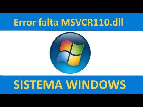 solucion a error msvcr110.dll falta en equipo - youtube