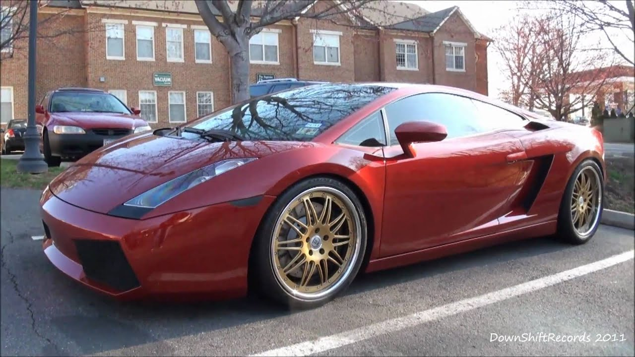 Lamborghini Gallardo With Gold Rims Chrome Lip Youtube