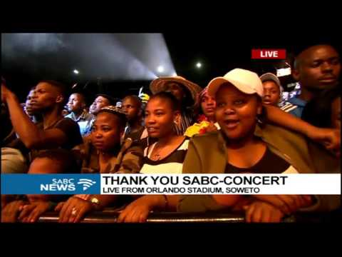 Mandoza performs at the SABC Thank You Concert