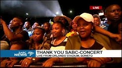 Mandoza performs at the SABC Thank You Concert
