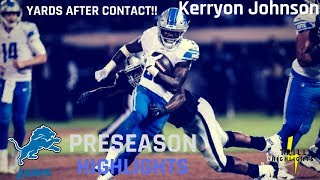 Kerryon Johnson Full Preseason Highlights | YAC Preseason 2018