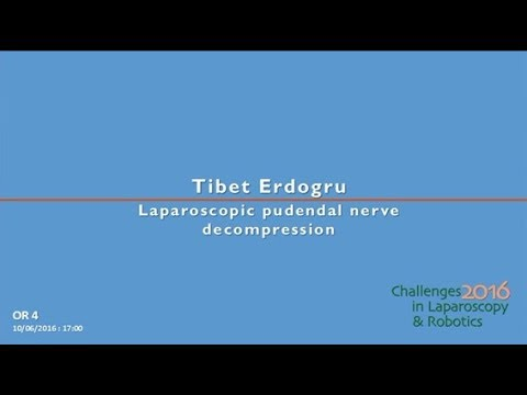 CILR 2016 - Tibet Erdogru - Laparoscopic pudendal nerve decompression