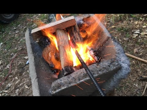 DIY Wood Fired Forge Trial & Error