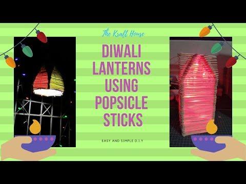 Akash Kandil making at Home | Popsicle Stick Diwali lantern | Diwali decoration ideas/DIY craft