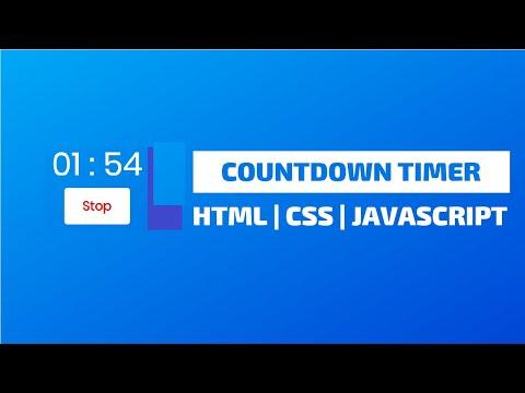 JavaScript Tutorials | Build a Complete CountDown Timer Using Html & CSS & JavaScript (2019) thumbnail