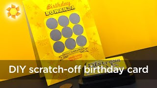 Scratch off Lottery Birthday Card (hilarious!)