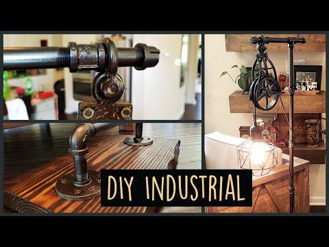 The Easiest DIY Industrial Steampunk Pipe Lamp
