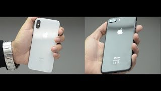مراجعة ايفون اكس ضد ايفون ٨ بلس   iphone X vs iPhone 8 plus