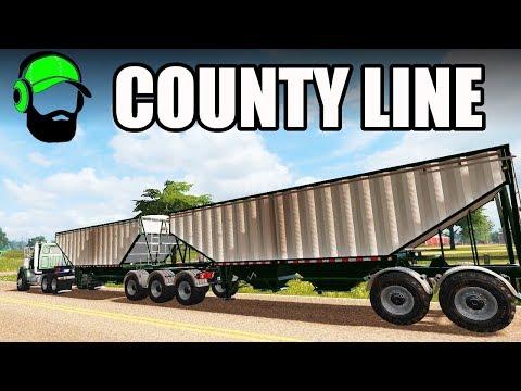 Farming Simulator 17 - County Line - Doubles hauling barley #FS17