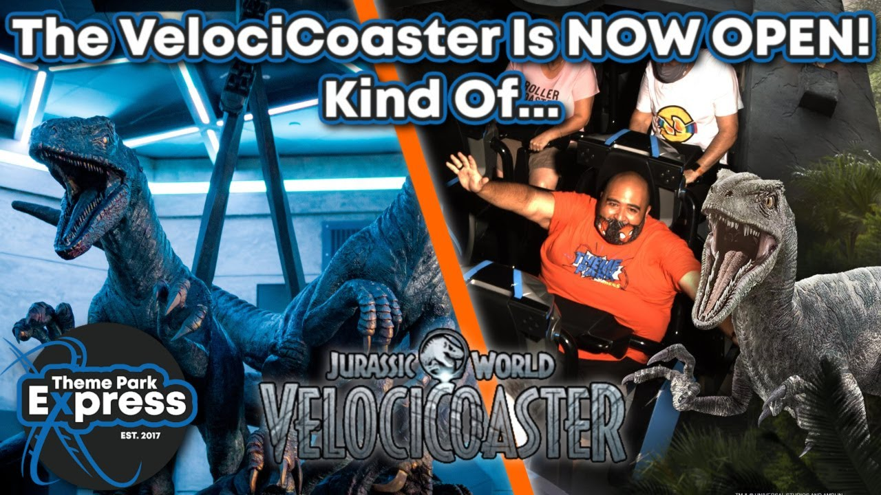 PREVIEWS ARE HAPPENING NOW! My First VelociCoaster Experience! First Look At Raptor Animatronics!