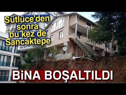 Sancaktepe'de Toprak Kayması: Bina Boşaltıldı