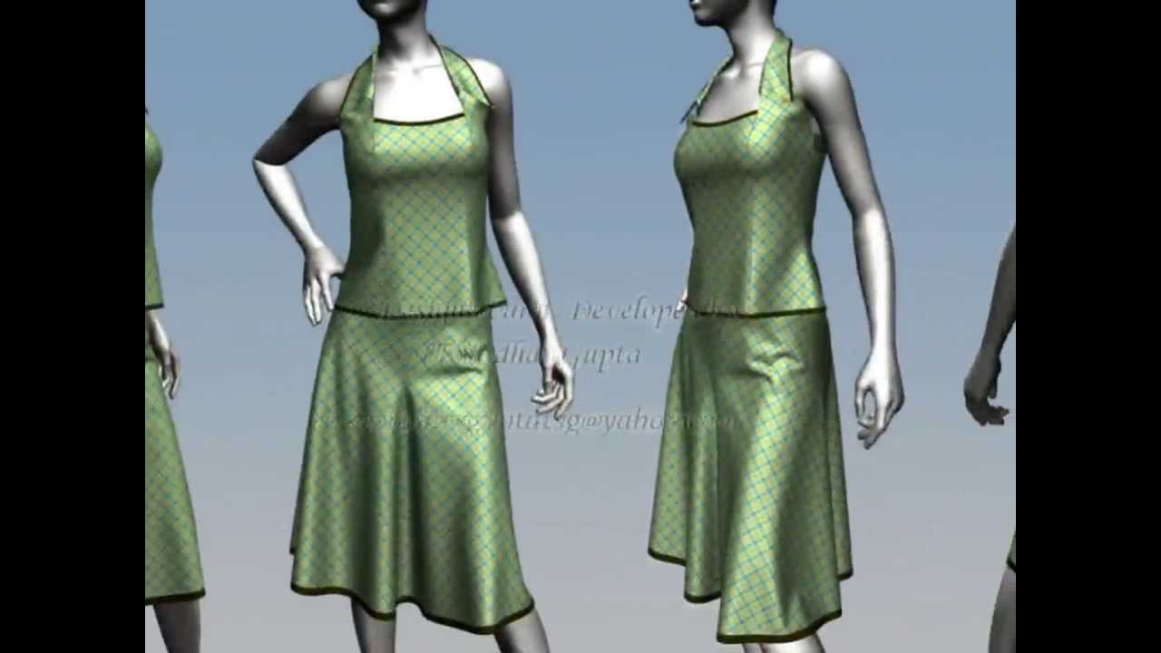 Virtual Fashion design Marvelous designer 3D designs - YouTube