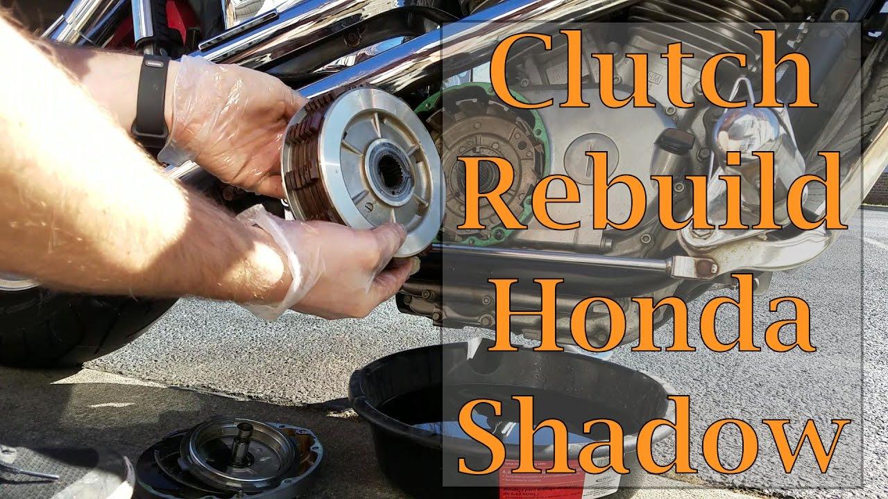Clutch Rebuild Honda Shadow Vt1100c Youtube 95 Aero 750 Wiring Diagram
