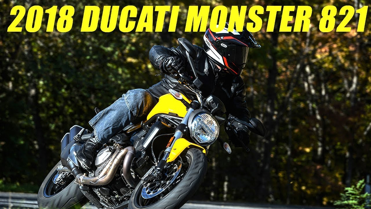 2018 Ducati Monster 821 First Ride Review - Dauer: 15 Minuten