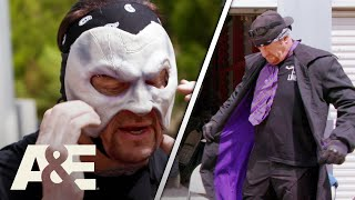 WWE's Most Wanted Treasures: Undertaker Spots His Purple Gear And Mask In Storage Unit | A&E