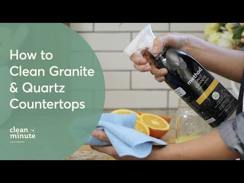 How To Clean Your Granite & Quartz Countertops | Kitchen Cleaning