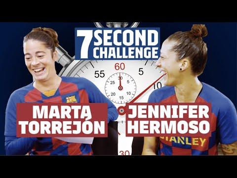7 SECOND CHALLENGE | Jennifer Hermoso Vs Marta Torrejón