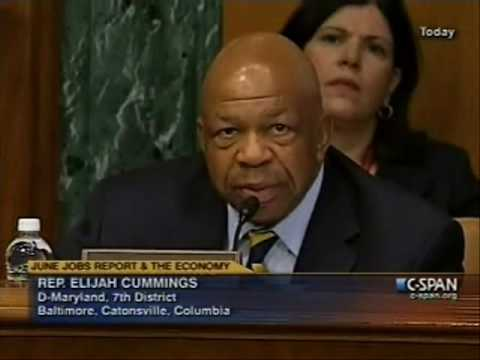 Congressman Cummings Addresses the Joint Economic Committee (partial)