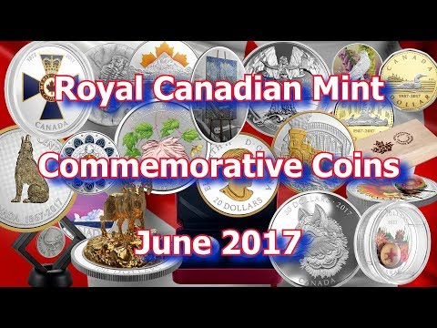 Coins From the Royal Canadian Mint for June 2017, New Silver, Gold and Platinum Coins