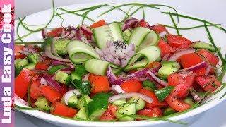 НЕ БАНАЛЬНЫЙ ОВОЩНОЙ САЛАТ С СЕКРЕТНЫМ ИНГРЕДИЕНТОМ! | Cucumber And Tomato Salad
