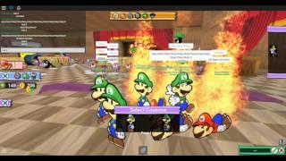[ ROBLOX ] New Paper Mario RP: Mario Bonfire, HALP Luigi, + More