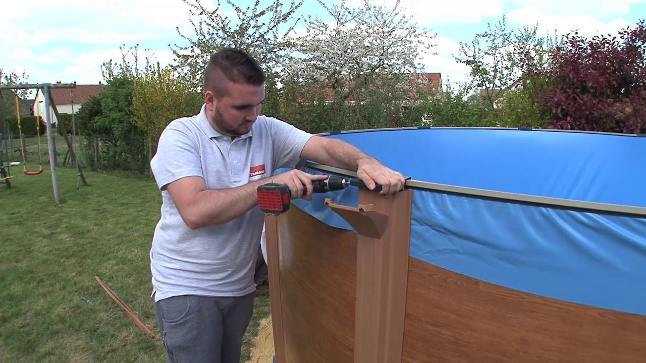 Comment Monter Une Piscine Hors Sol comment installer une piscine hors sol - montage des poteaux et margelles  (Étape 5/6)