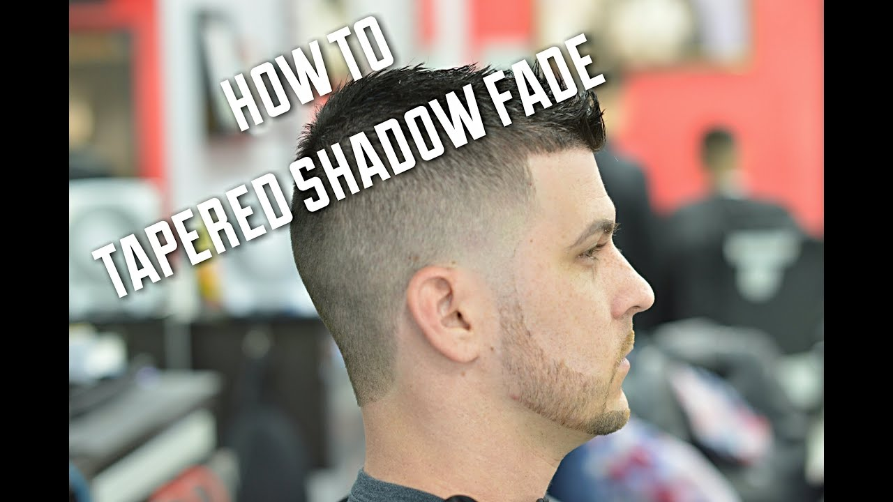 shadow fade haircut with taper