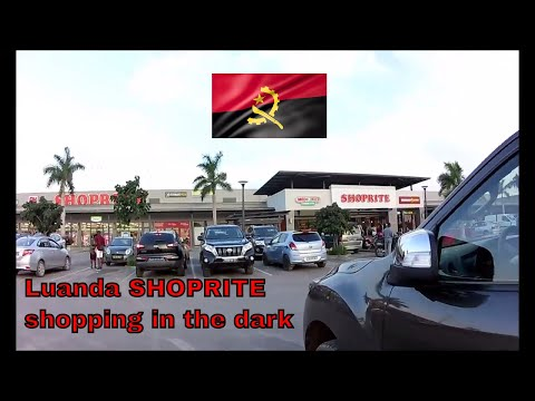 Luanda Shoprite sem luz - shopping in the dark